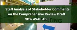 Staff Analysis of Stakeholder Comments on the Comprehensive Review Draft of the Zoning Ordinance NOW AVAILABLE