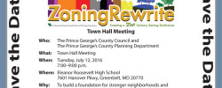 County Council Town Hall on the Zoning Rewrite